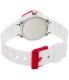 Casio Women's LRW200H-4BV White Resin Analog Quartz Watch - Back Image Swatch