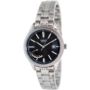 Casio Women's LTPE102D-1AV Silver Stainless-Steel Quartz Watch