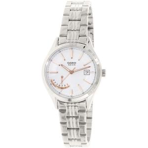 Casio Women's LTPE102D-7AV Silver Stainless-Steel Quartz Watch