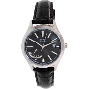 Casio Women's LTPE102L-1AV Black Leather Quartz Watch