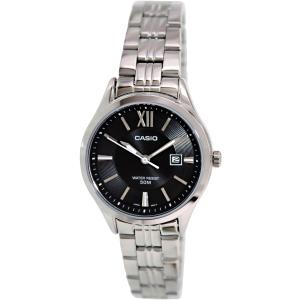 Casio Women's LTPE103D-1AV Silver Stainless-Steel Quartz Watch