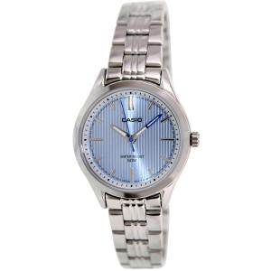 Casio Women's LTPE104D-2AV Silver Stainless-Steel Quartz Watch