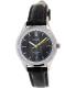 Casio Women's LTPE104L-1AV Black Leather Quartz Watch - Main Image Swatch