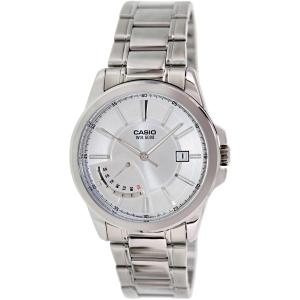 Casio Men's MTPE102D-7AV Silver Stainless-Steel Quartz Watch