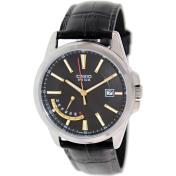 Casio Men's MTPE102L-1AV Black Leather Quartz Watch