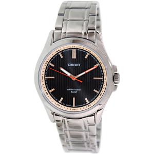 Casio Men's MTPE104D-1AV Silver Stainless-Steel Quartz Watch