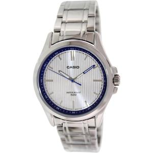 Casio Men's MTPE104D-7AV Silver Stainless-Steel Quartz Watch