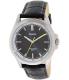 Casio Men's MTPE104L-1AV Black Leather Quartz Watch - Main Image Swatch