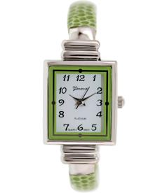 Geneva Platinum Women's 8519.LIMEGREEN.SILVER White Metal Quartz Watch