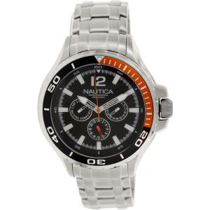 Nautica Men's Nst 02 N22617G Silver Stainless-Steel Quartz Watch
