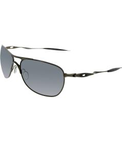Oakley Men's Polarized Crosshair OO6014-02 Gunmetal Rectangle Sunglasses