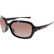 Oakley Women's Polarized Pulse OO9198-06 Black Oval Sunglasses