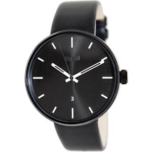 Vestal Men's Roosevelt ROS3L002 Black Leather Analog Quartz Watch