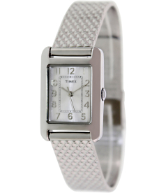 Timex Women's Dress T2P303 Mother-Of-Pearl Stainless-Steel Quartz Watch