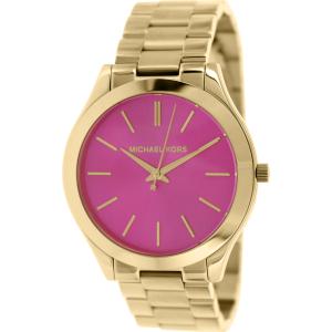 Michael Kors Women's Slim Runway MK3264 Gold Stainless-Steel Quartz Watch