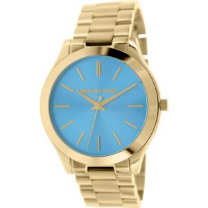 Michael Kors Women's Slim Runway MK3265 Blue Stainless-Steel Quartz Watch