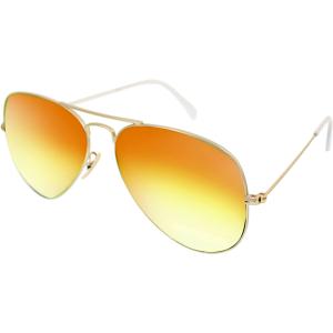 Ray-Ban Men's Mirrored Aviator RB3025-112/69-58 Gold Aviator Sunglasses