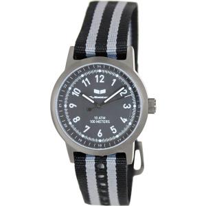 Vestal Men's Alpha Bravo Zulu ABZ3C02 Black Nylon Analog Quartz Watch
