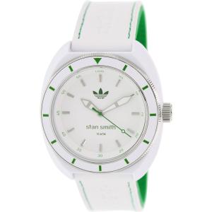 Adidas Men's Santiago ADH2931 White Leather Quartz Watch