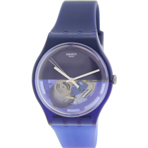 Swatch Men's Originals SUON105 Blue Silicone Swiss Quartz Watch