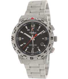 Timex Men's Intelligent Quartz T2P289 Black Stainless-Steel Analog Quartz Watch