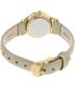 Timex Women's Classic T2P313 Beige Leather Analog Quartz Watch - Back Image Swatch