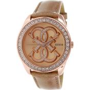 Guess Women's U0208L1 Rose-Gold Leather Quartz Watch