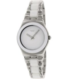 Swatch Women's Irony YLS141GC White Stainless-Steel Swiss Quartz Watch