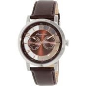 Kenneth Cole Men's KC8080 Brown Leather Analog Quartz Watch