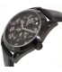 Kenneth Cole Men's New York KC8083 Black Leather Automatic Watch - Side Image Swatch