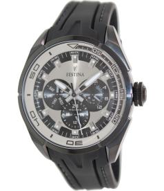 Festina Men's F16610/1 Silver Rubber Quartz Watch