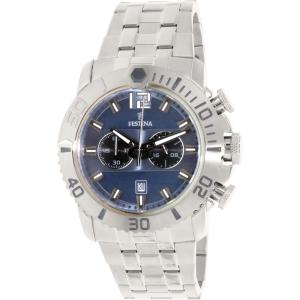 Festina Men's Tour De France F16613/2 Silver Stainless-Steel Quartz Watch