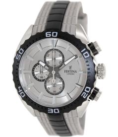 Festina Men's F16664/2 Silver Rubber Quartz Watch