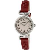 Timex Women's Weekender T2N661 White Leather Analog Quartz Watch