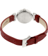 Timex Women's Weekender T2N661 Red Leather Analog Quartz Watch - Back Image Swatch
