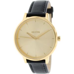 Nixon Women's Kensington A108501 Gold Leather Quartz Watch