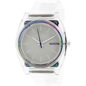 Nixon Women's Time Teller P A1191779 Transparent Plastic Quartz Watch