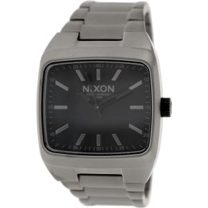Nixon Men's Manual A2441062 Silver Stainless-Steel Quartz Watch