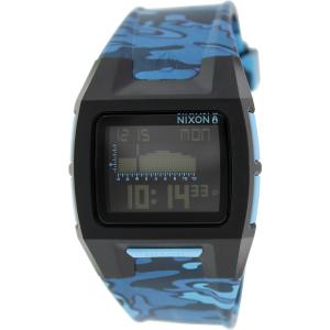 Nixon Men's Lodown Ii A2891628 Blue Rubber Quartz Watch