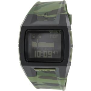 Nixon Men's Lodown Ii A2891629 Green Rubber Quartz Watch