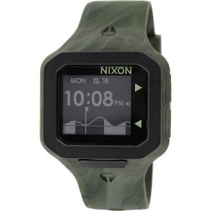Nixon Men's Supertide A3161727 Green Silicone Quartz Watch