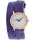 Nixon Women's Kenzi A4031675 Purple Leather Quartz Watch - Main Image Swatch
