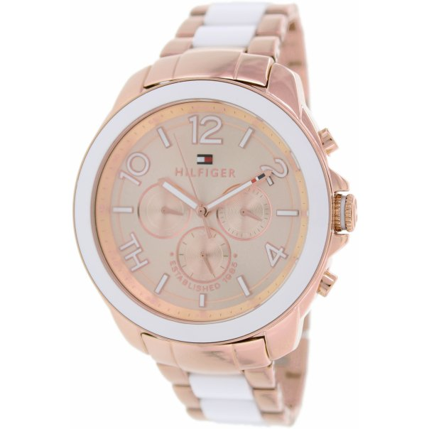 tommy hilfiger women 39 s 1781393 rose gold stainless steel quartz watch. Black Bedroom Furniture Sets. Home Design Ideas