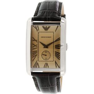 Emporio Armani Men's Classic AR1605 Gold Leather Analog Quartz Watch