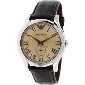 Emporio Armani Men's Classic AR1704 Rose-Gold Leather Quartz Watch