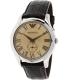 Emporio Armani Men's Classic AR1704 Rose-Gold Leather Quartz Watch - Main Image Swatch