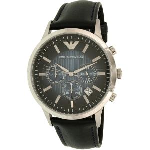 Emporio Armani Men's Classic AR2473 Blue Leather Analog Quartz Watch