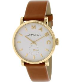 Marc by Marc Women's Baker MBM1316 White Leather Swiss Quartz Watch