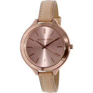 Michael Kors Women's Runway MK2274 Brown Leather Quartz Watch
