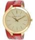 Michael Kors Women's Runway MK2332 Red Leather Quartz Watch - Main Image Swatch